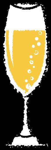 かわいいシャンパンイラスト無料素材