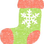 かわいいクリスマス靴下イラスト無料素材