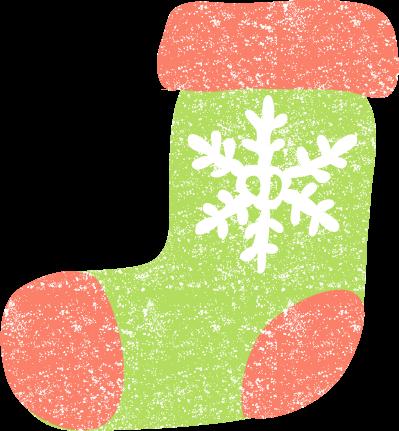 かわいいクリスマス靴下無料イラスト素材