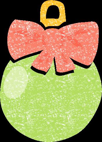 かわいいクリスマスボールイラスト無料素材