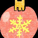 かわいいクリスマスオーナメントボールイラスト無料素材
