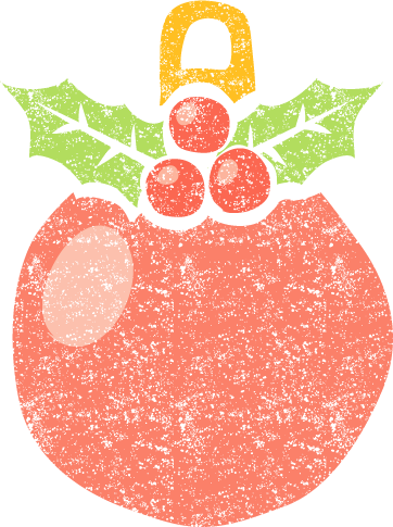 かわいいクリスマスオーナメントボール無料素材