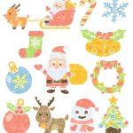 おしゃれかわいいクリスマスイラスト無料素材