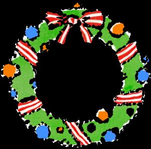 かわいいクリスマスリースイラスト無料素材