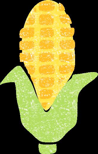 かわいいトウモロコシ無料イラスト素材