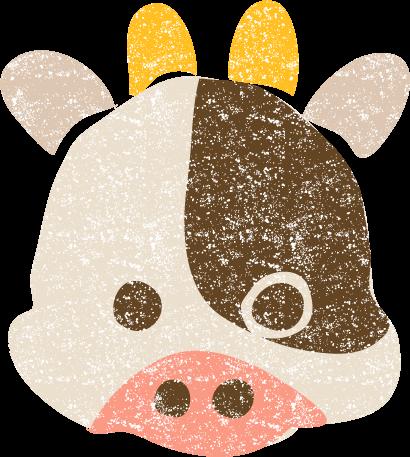 かわいい干支牛丑イラスト無料素材