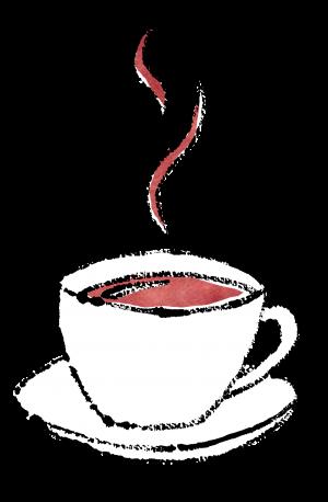 カップソーサーのコーヒー無料イラスト