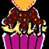 カップケーキイラスト無料素材2