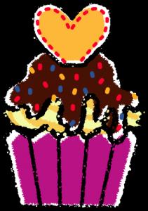 かわいいカップケーキイラスト無料素材