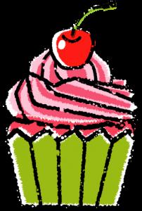 かわいいカップケーキイラスト無料素材3