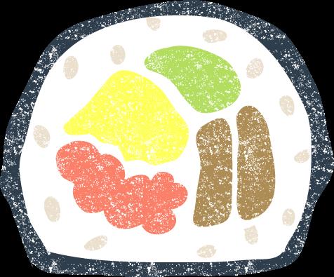 恵方巻海苔巻き イラスト無料素材