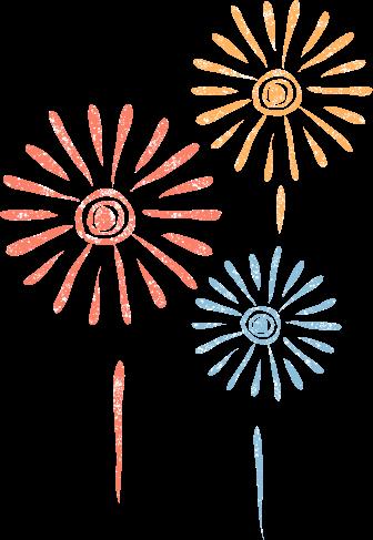 かわいい花火イラスト無料素材