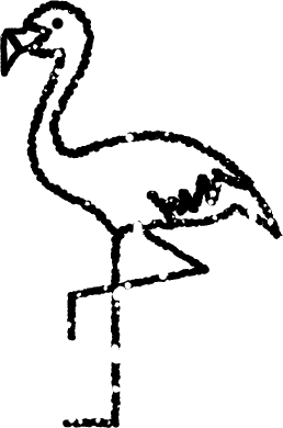 フラミンゴイラスト白黒