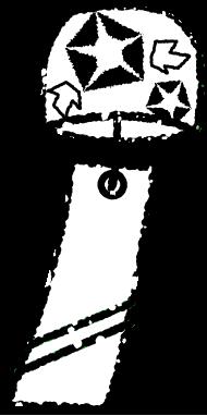 かわいい風鈴イラスト白黒無料素材