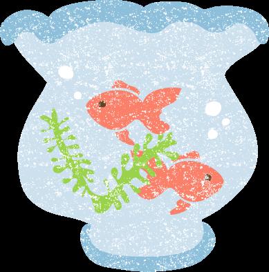 金魚鉢イラスト無料かわいい