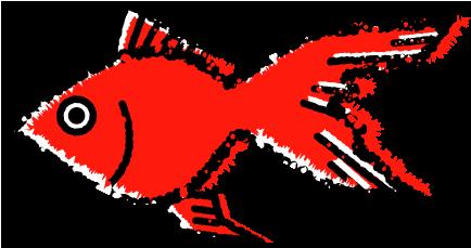 かわいい金魚イラスト無料素材