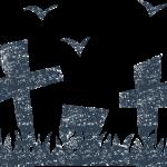かわいいハロウィンお墓イラスト無料素材