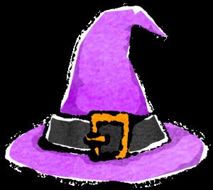 かわいいハロウィン帽子イラスト無料素材