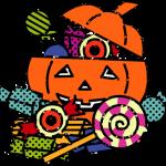 かわいいハロウィンお菓子イラスト無料素材