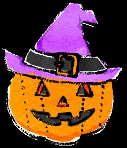かわいいハロウィン帽子カボチャイラスト無料素材