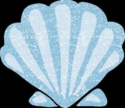 かわいいホタテ貝殻イラスト無料素材