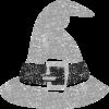 ハロウィン帽子イラスト白黒無料素材