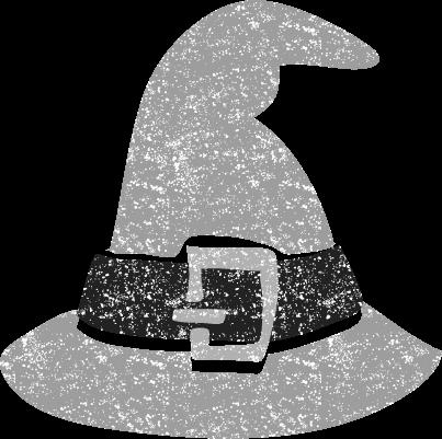 ハロウィン帽子イラスト白黒