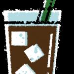かわいいアイスコーヒー無料イラスト素材