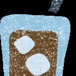 かわいいアイスコーヒーイラスト無料素材