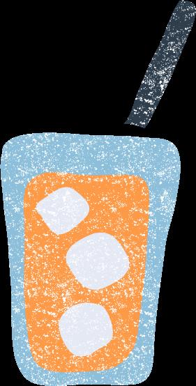 かわいいオレンジジュースイラスト無料素材