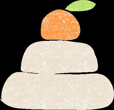 かわいい鏡餅イラスト無料素材