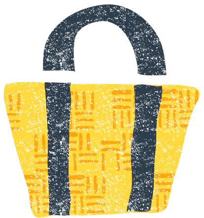 かわいいかごバッグイラスト無料素材