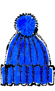 かわいいニット帽イラスト無料素材ポンポンつき