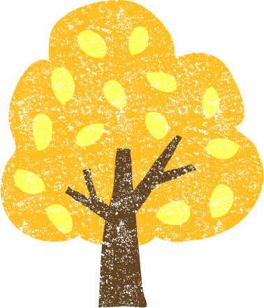 かわいい紅葉した木無料イラスト素材