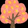 紅葉した木のイラストフリー素材