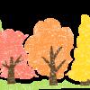 かわいい紅葉の森イラスト無料素材