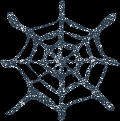 かわいいクモの巣イラスト無料素材