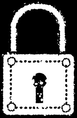 かわいい鍵と錠前イラスト無料素材白黒
