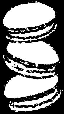 かわいいマカロンイラスト無料素材白黒