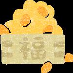 節分豆まきの豆無料イラスト