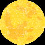 かわいい満月イラスト無料素材