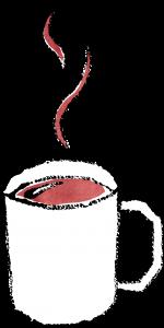 かわいいマグカップに入ったコーヒーイラスト無料素材