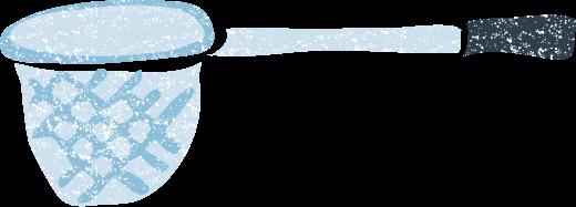 かわいい虫取り網魚網イラスト無料素材