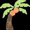 かわいいヤシの木無料イラスト