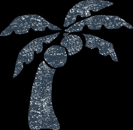 かわいいヤシの木無料イラスト素材