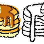 かわいいパンケーキイラスト無料素材