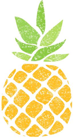 かわいいパイナップルイラスト無料素材