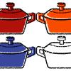 鋳物ホーロー鍋イラスト無料素材