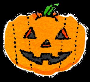 かわいいハロウィンかぼちゃイラスト無料素材