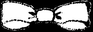 かわいいリボンイラスト無料素材白黒グレースケール
